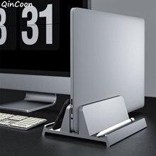 Vertical Aluminum Laptop Stand Multifunction Desktop Holder with Adjustable Dock Size for Notebook MacBook Dell HP Tablet More