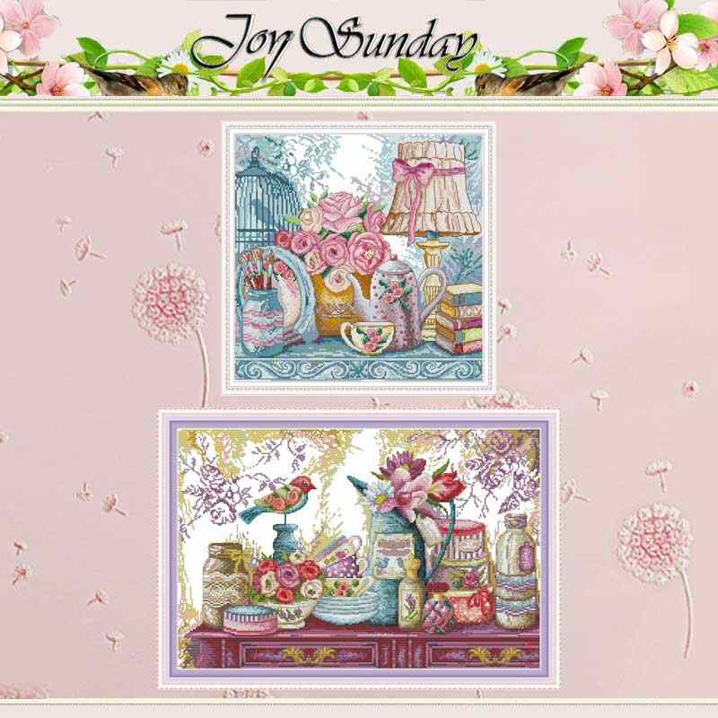 Wedding Supplies flower counted 11CT 14CT Cross Stitch Set DIY DMC Chinese Cross-stitch Kit Embroidery Needlework Home Decor