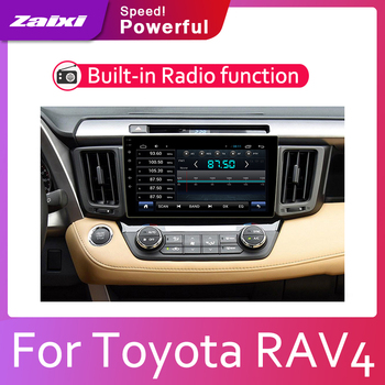 ZaiXi 2din Car multimedia Android Autoradio Car Radio GPS player For Toyota RAV4 XA40 2012~2018 Bluetooth WiFi Mirror link Navi image