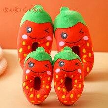 Home Slippers Shoes Strawberry Toddler Girls Cartoon Children Indoor Winter Cute Fruit