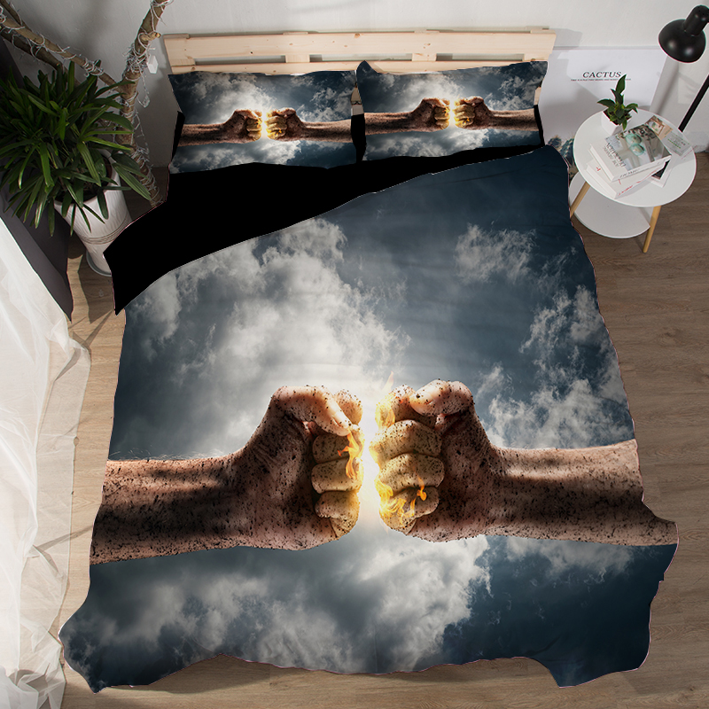Sports Basketball Bedding Set Duvet Covers Pillowcases Football Boxing Bed Set Comforter Bedding Sets Bedclothes Bed Linen in Bedding Sets from Home Garden