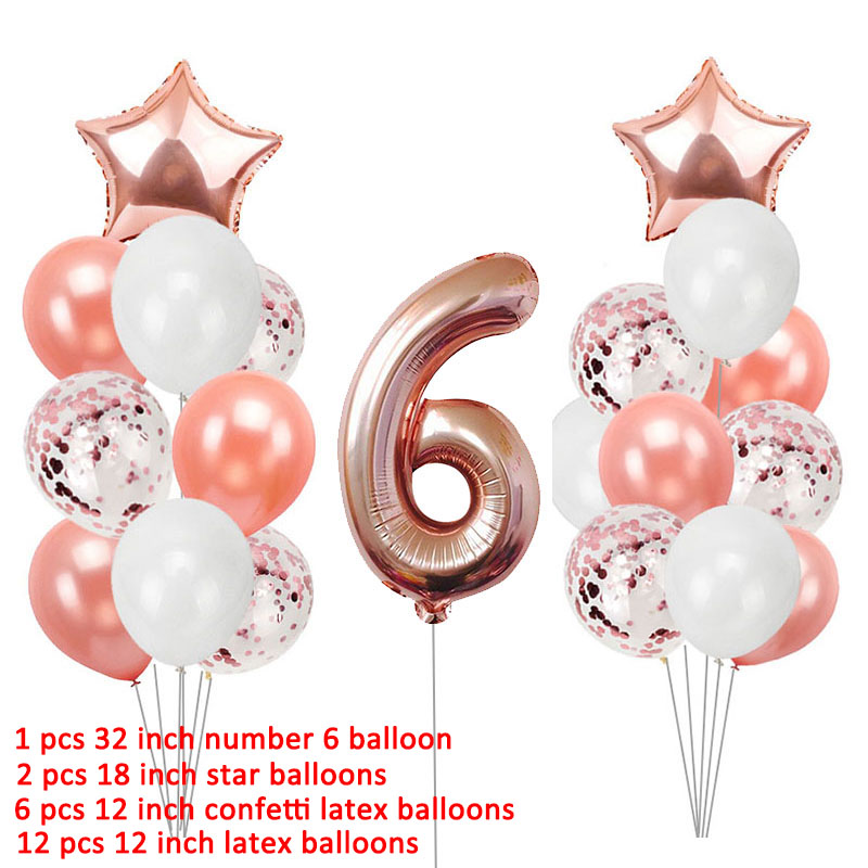 12 Cupcake Toppers 6th Birthday Party Cake Decor Baby Blue Pearl Number Six 6