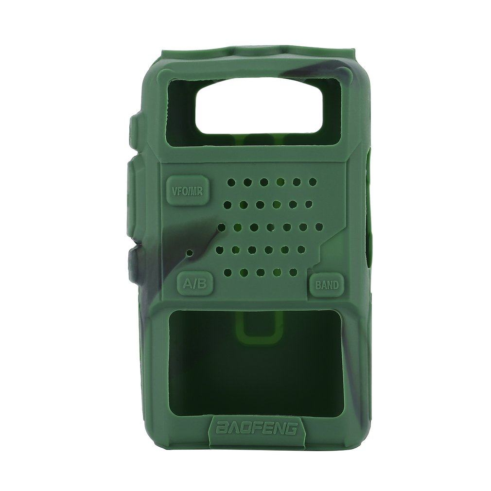 Silicone Rubber Cover bumper BAOFENG UV-5R Case For Two Way Radio F8+ UV 5R UV-5RE DM-5R Walkie Talkie uv5r Accessories 2020 New