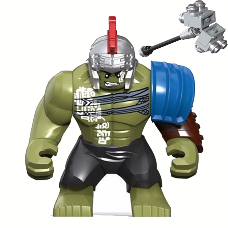 0281 DECOOL Super Heroes 8.5CM HULK Big Size Thor Ragnarok Figure Blocks Compatible Legoe Building Bricks Toys For Children