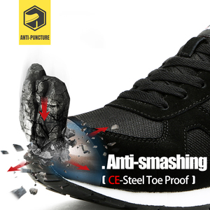 Image 2 - LARNMERN גברים של פלדת הבוהן עבודה נעלי בטיחות לנשימה קל משקל נגד לנפץ רעיוני בניית מגן הנעלה