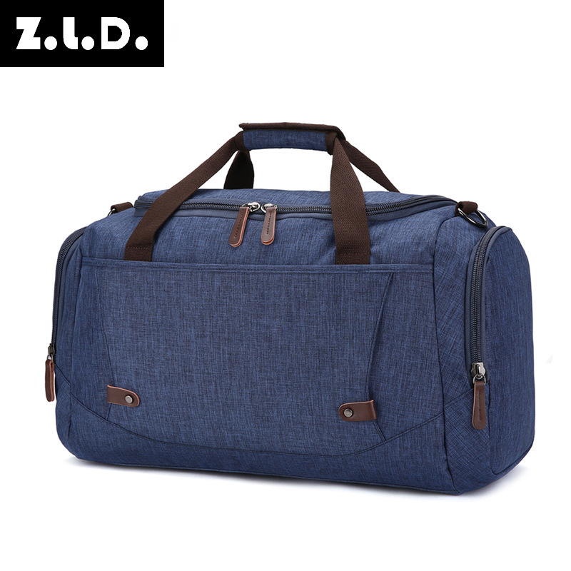 Large capacity travel bag anti splashing material for men and women pure color luggage travel bag