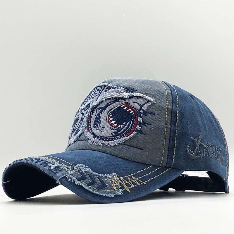 H07f0527bf9a74218b281c98b33ce550cr - New Cotton Men baseball cap for women snapback hat Shark embroidery bone caps gorras casual casquette men baseball hats
