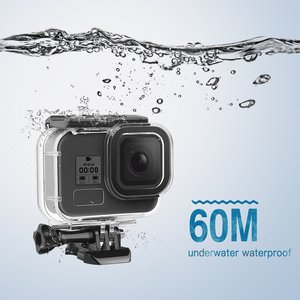 Image 5 - SHOOT 60M Waterproof Case for GoPro Hero 8 Black Protective Diving Underwater Housing Shell Cover for Go Pro 8 Camera Accessory
