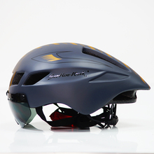 Aero TT Bersepeda Helm Cetakan Time-Trial Mengendarai Sepeda Helm Magnetik Kacamata Peta MTB Gunung Sepeda Helm casco Ciclismo