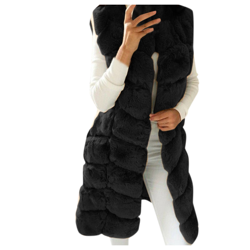 Jaycosin 2019 Winter Waistcoat Coat For Women Thickening Faux Fur Vest Comfortable Sleeveless Body Warmer Jacket Coat Outwear315