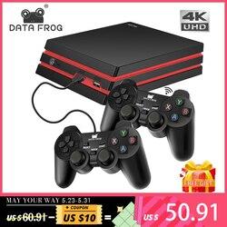 Consola de juegos DATA FROG con controlador inalámbrico 2,4G consola de videojuegos HDMI 600 juegos clásicos para la familia GBA TV juego Retro