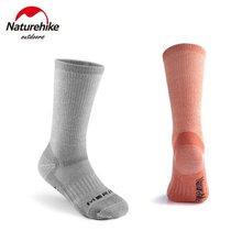 Naturehike-calcetines de lana merina para hombre y mujer, calcetín súper grueso, cálido, informal, anticongelante, para exteriores, escalada y Camping
