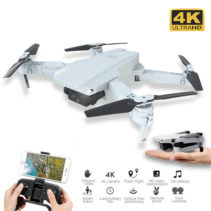 Newest Drone 4K 720P HD Camera RC Mini Foldable Quadcopter WIFI FPV Selfie Optical Flow Quadcopter RC Helicopter