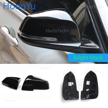 Replace the original car rear view mirror cover bright high quality black mirror cover For BMW 1 Series F20 F21 2012 2018