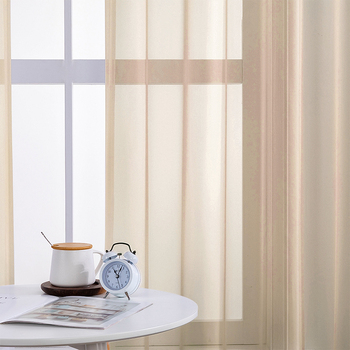 BHD Solid Tulle Sheer Window Curtains for Living room the Bedroom Modern Tulle Curtains Fabric for Kitchen Voile Drapes tulle modern window curtains for living room solid sheer curtains for bedroom voile drapes curtains window screening treatments