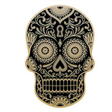 DAY OF THE DEAD Decal Rockabilly Rock Vintage Skull สติก(China)