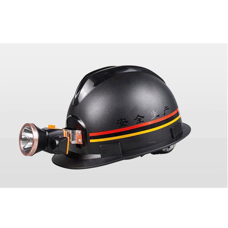 Miners Helmet With Charging Headlights ABS Material Anti-piercing Safety Helmet Construction Working Hard Hat
