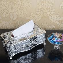 Элегантная акриловая коробка для салфеток, белая Золотая крышка, контейнер, Шикарный чехол для салфеток, держатель для автомобиля, гостиной, ванной комнаты, клуба, KTV Bar