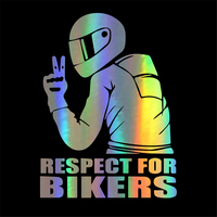 sticker motorcycle Universal Funny Car Stickers 3D Reflective Motorcycle helmet sticker Hood Decals Cool Design Car Accessories (4)
