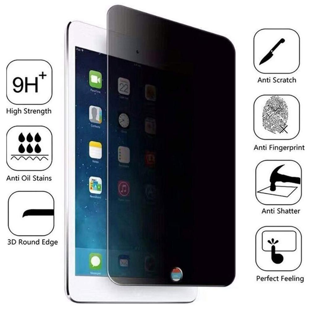 Privacy Tempered Glass For Apple IPad Air 3 2 Mini 5 4 2019 Anti Spy Screen Protector For IPad Pro 9.7 10.5 11   Tablet
