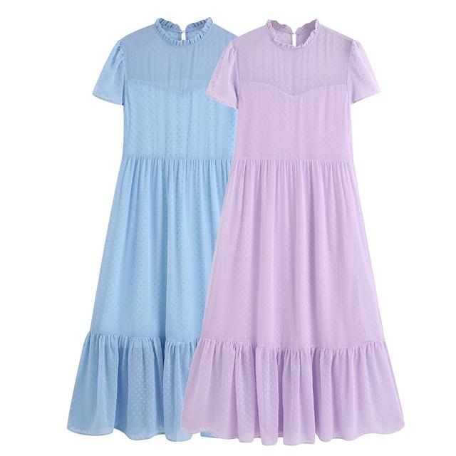nice simple wear chiffon bottom dress 5
