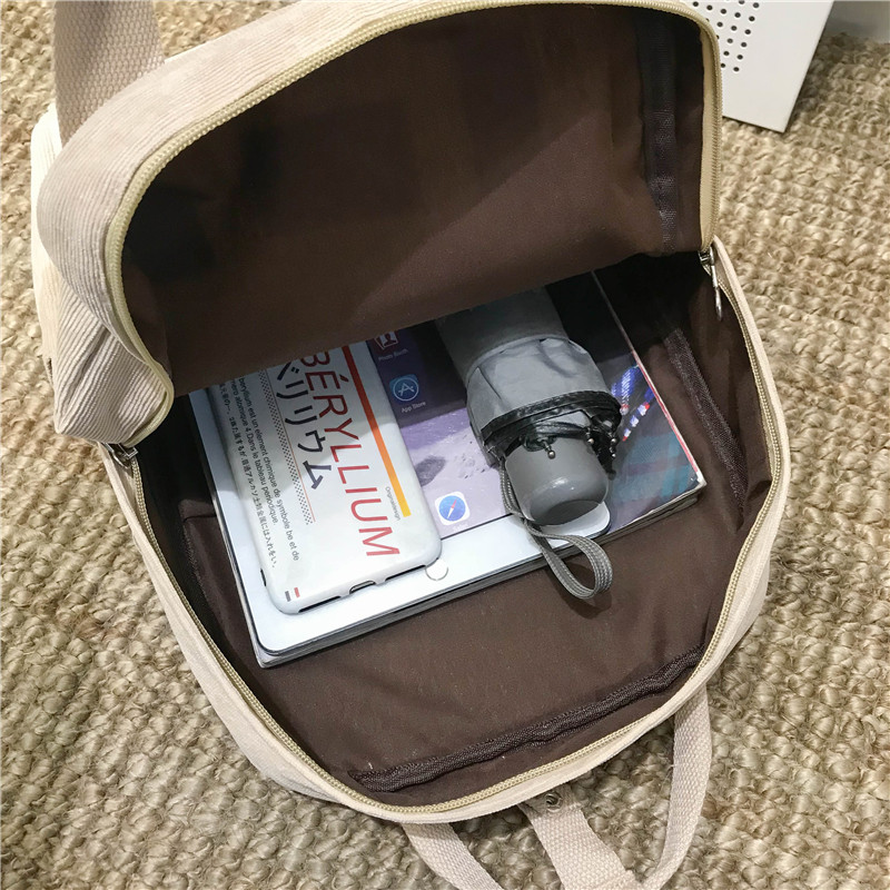 New Trend Female Backpack Fashion Women Backpack College School Bagpack Harajuku Travel Shoulder Bags For Teenage Girls 2019 in Backpacks from Luggage Bags