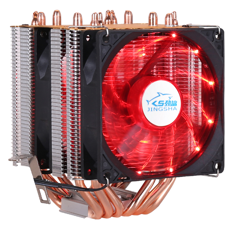 6 copper tube double tower high efficiency cooling fan for LGA 1155 1356 1156 1366 2011 And AMD cpu