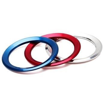 For Car Interior Styling Steering Wheel Decoration Ring Circle Trim Sticker For BMW M3 M5 E36 E46 E60 E90 E92 X1 F48 X3 X5 X6