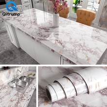 Wasserdicht Öl-proof Marmor Tapete Kontaktieren Papier Wand Aufkleber PVC Selbst Klebe Bad Küche Arbeitsplatte Hause Verbesserung