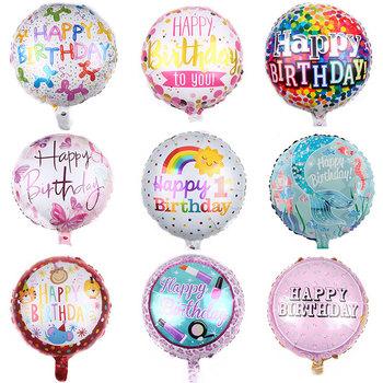 30 Paterns 5 sztuk 18-cal okrągły balon foliowy wszystkiego najlepszego z okazji urodzin nadmuchiwane balony z helem dekoracja urodzinowa wysokiej jakości zabawki tanie i dobre opinie ZQCXLD CN (pochodzenie) ROUND FOLIA ALUMINIOWA Na imprezę przyjęcie urodzinowe Ballon 1 pc ZY125