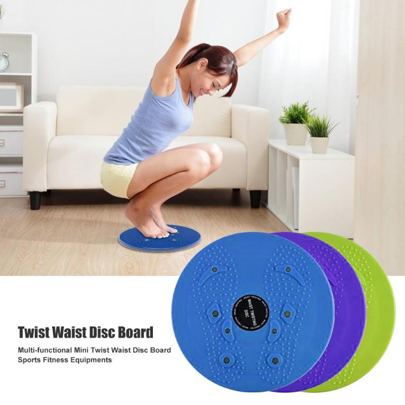 Durable Vibration Fitness Massager Twist Waist Disc Board Body Building Fitness Slim Twister Plate Exercise Gears