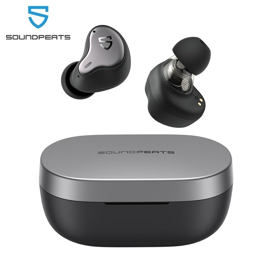 Наушники SOUNDPEATS H1 Hybrid Dual-Driver TWS, Bluetooth 5,2 Apt-X QCC3040, hi-fi звук, Беспроводная зарядка, наушники, время работы 40 часов