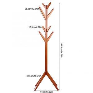 Image 5 - אורן מעיל בגדים מתלה בגדי צעיפים תליית Stand מפורק קולב לשימוש ביתי מעיל אורן מתלה
