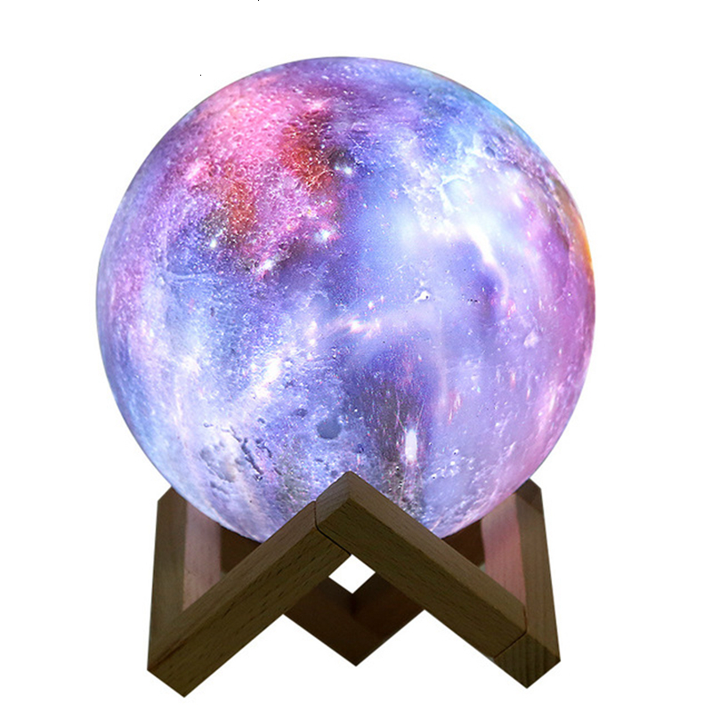 3D Starry Sky Lamp Novelty Lamp Moon Lamp New Peculiar Originality Gift Remote Control Led Bedside Small Night Light Gift