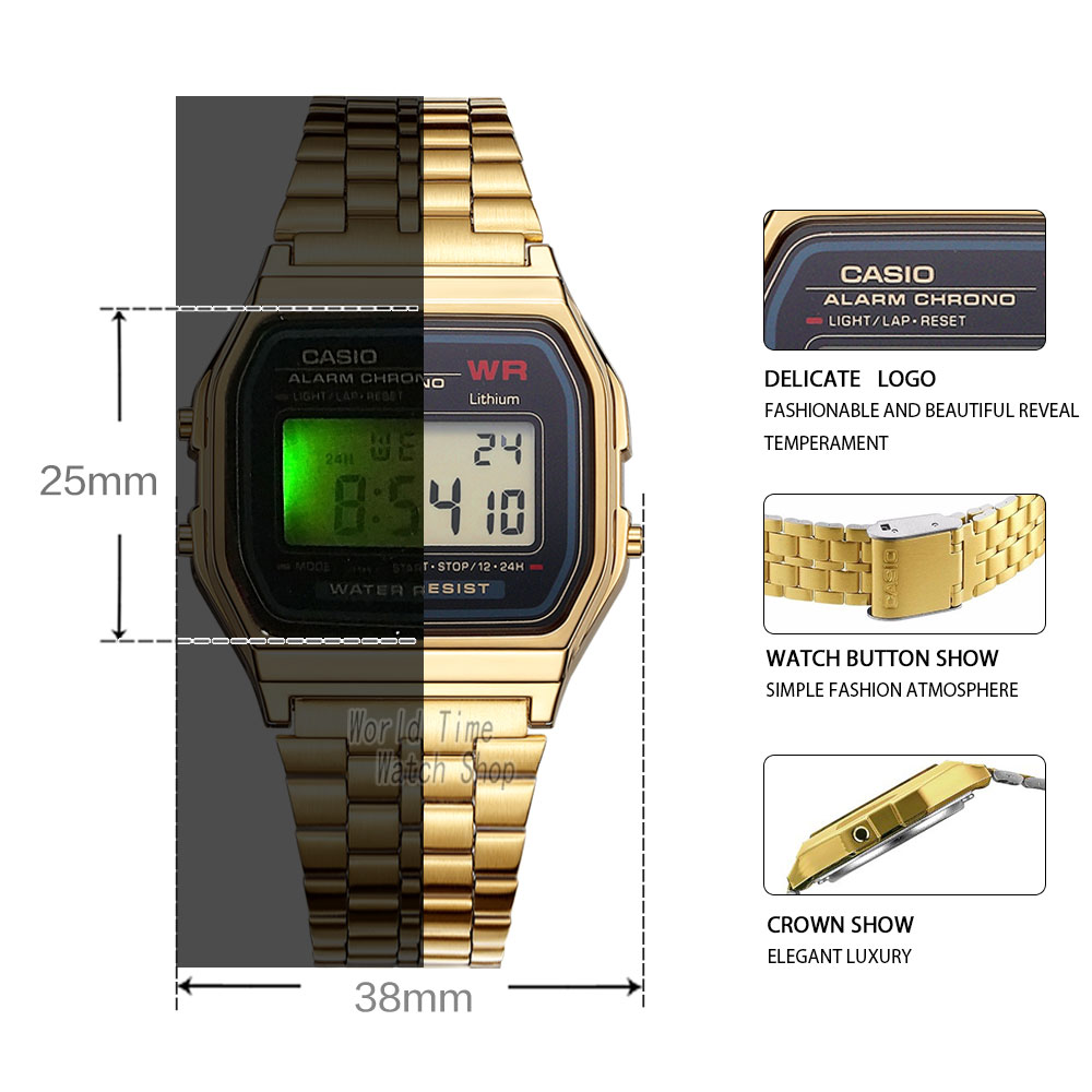 Image 2 - Casio Watch men clock women Couple Watch set top luxury Quartz ladies Wrist watch Sport Waterproof LED relogio Digita men watch-in Lover's Watches from Watches