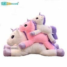 60/80/110cm Lovely Unicorn Plush Toys Soft Stuffed Cartoon Dolls Cute Animal Horse for Children Girls gift