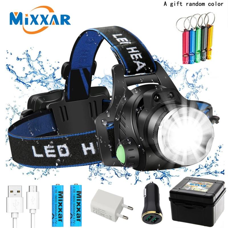 LED Headlamp High Lumens Zoomable Dropshipping Headlight Waterproof Head Torch Flashlight Head Lamp Fishing Hunting Camping Lamp
