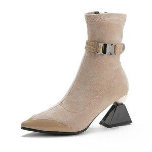 Image 5 - Morazora 2020 Hàng Mới Về Da Thật Chính Hãng Da Giày Nữ Mắt Cá Chân Giày Độc Đáo Giày Cao Gót Giày MÙA THU ĐẦM DỰ TIỆC Giày Người Phụ Nữ
