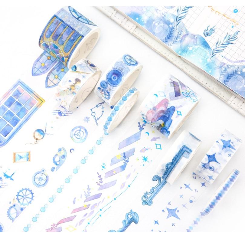 8 teile/paket Chinoiserie Wistaria Wald Sakura Katze Japanischen Washi Band Set Maske Band DIY Scrapbooking Aufkleber Label Masking tape