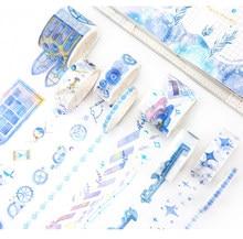 8 pcs/pack Chinoiserie Wistaria Forest Sakura Cat Japanese Washi Tape Set Mask Tape DIY Scrapbooking Stickers Label Masking tape