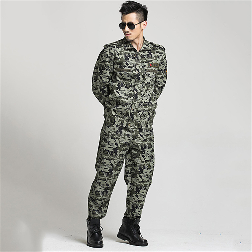 Military Uniform Tactical Camouflage Combat Clothing Men Army Special Forces Soldier Training Work Wear Adult Clothes Pant Set 4