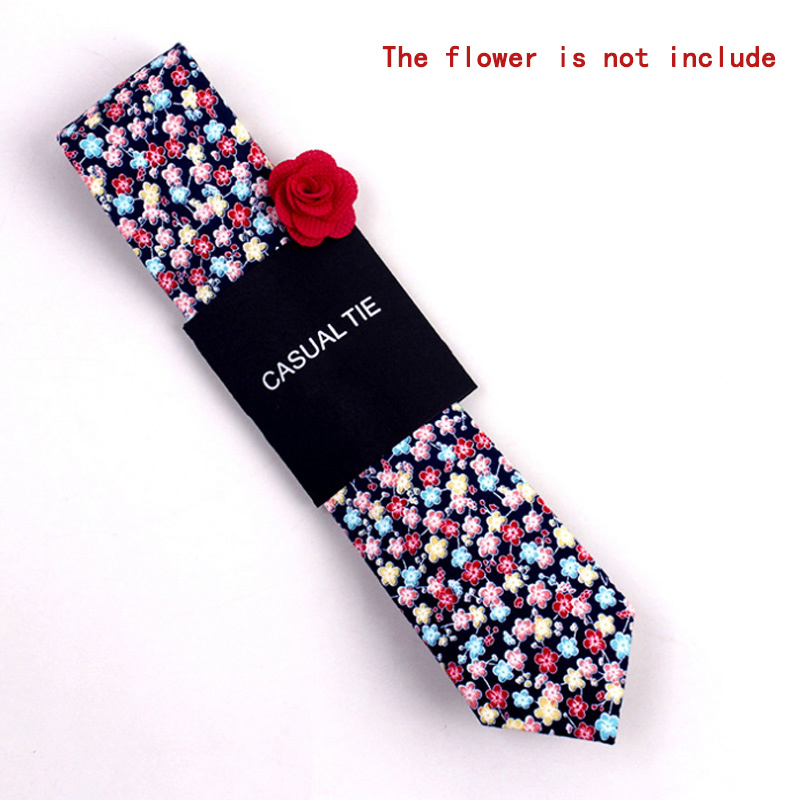 Newly Fashion Men Floral Print Tie Suit Skinny Ties Slim Necktie For Wedding Christmas Party CLA88