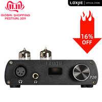 LOXJIE P20 tubo de equilibrio completo amplificador de potencia para auriculares utiliza el tubo 6N3 de grado militar potente control de volumen de alta gama NJW1195
