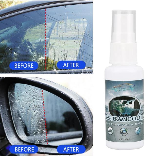 Glass Hydrophobic Coating For Safe Driving Car Wash Maintenance Window Repair 30ml Car Glass Rainproof Agent Nano 1