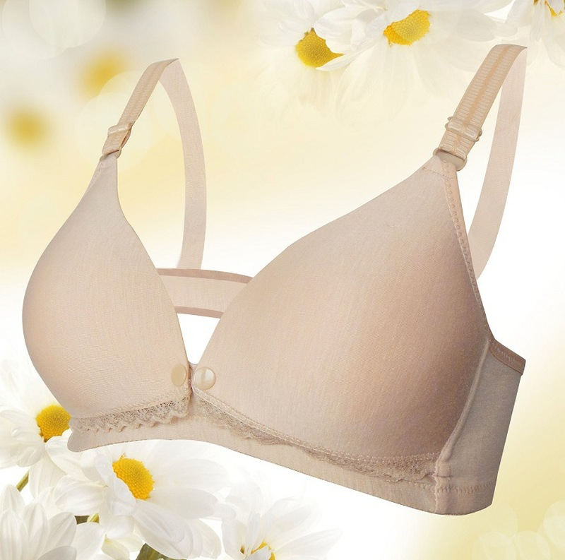 Maternity Pregnant Nursing Bra Underwired Breastfeeding Bras Baby Feeding Open Cup Bra