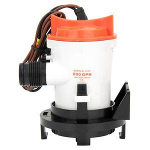 Image 2 - 12v 800GPH deniz sintine pompası tekne sintine su pompası yan montaj süzgeç tabanı