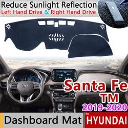 Para Hyundai Santa Fe 2019 2020 TM Anti-Slip Mat panel de cubierta almohadilla sombrilla salpicadero proteger alfombra Anti-UV Dash accesorios de coche