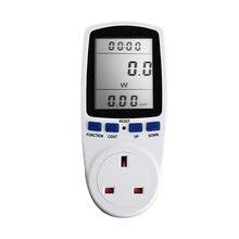 Medidor de potencia CA con enchufe europeo, vatímetro Digital de 230v, consumo de energía de vatios, Analizador de electricidad, Monitor, enchufe BR