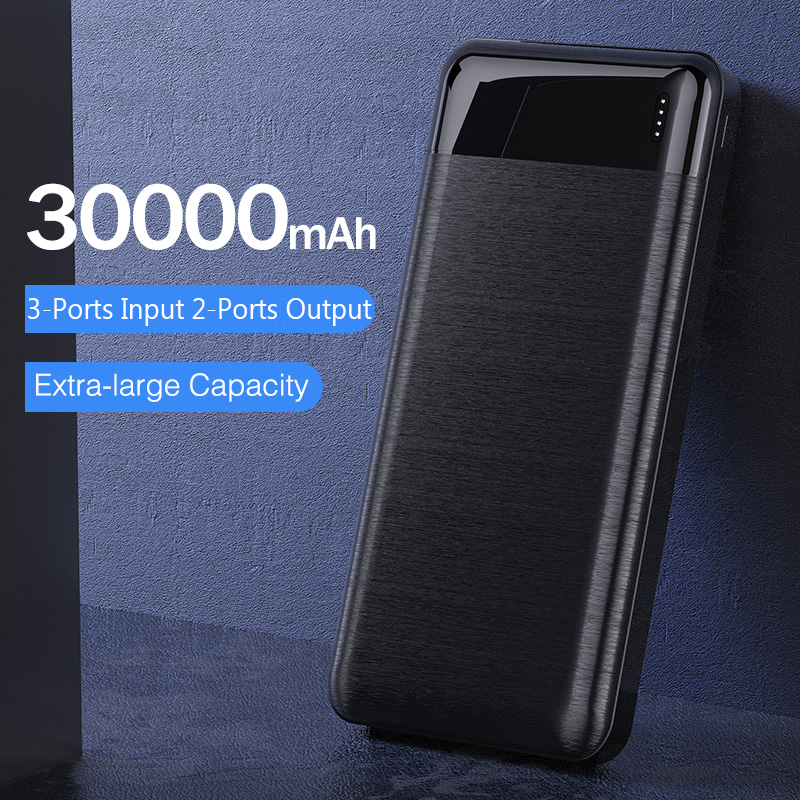 YKZ Mini <font><b>Power</b></font> <font><b>bank</b></font> <font><b>30000</b></font> mAh <font><b>Bank</b></font> Portable Charging Poverbank Mobile Phone External Battery Charger Powerbank for iPhone Xiaomi image