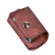 JINXINGCHENG przenośna podwójna torba na książki 5 kolorów odwróć hak skórzana pokrywa dla iqos 3.0 Case sakiewka skórzane etui akcesoria